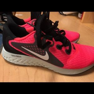 Nike React Shoes in pink